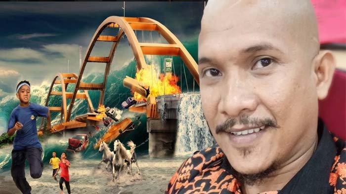 Dibuat 4 Tahun Lalu Lukisan Jembatan Hancur Dihantam Tsunami Palu Jadi Kenyataan, Berawal dari Mimpi