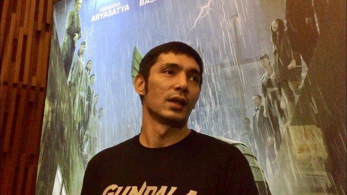 Abimana Aryasatya saat ditemui dalam acara perilisan poster film Gundala di kawasan Senayan Jakarta Selatan, Selasa (28/5/2019).