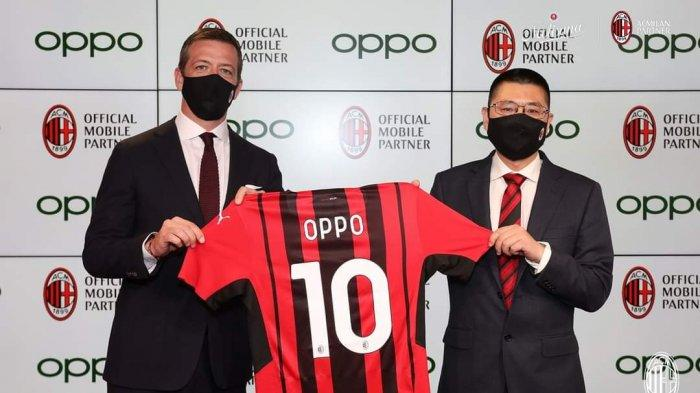 Sedang Viral, Setelah Jadi Sponsor Wimbledon, Oppo Kini Jadi Ponsel Resmi Klub Serie A AC Milan