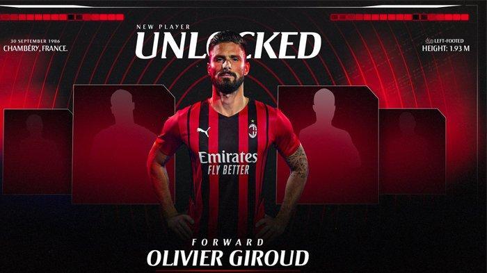 AC Milan meresmikan Olivier Giroud, Sabtu (17/7/2021) petang.