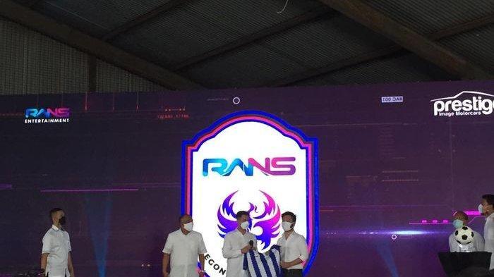 Acara launching Rans CIlegon FC, Rabu (31/3/2021).BOLASPORT.COM/ABDUL ROHMAN
