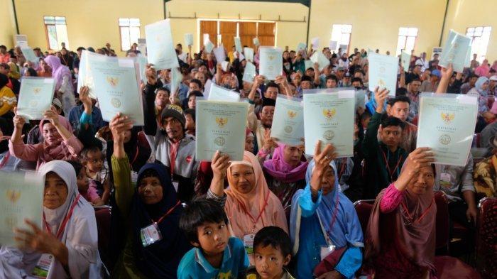 Tanah Eks HGU seluas 320 Hektare Diserahkan Kepada Masyarakat di Sukabumi