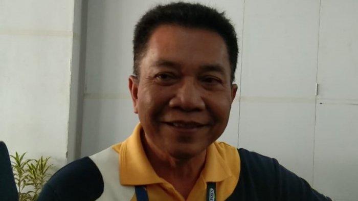 Ketua panitia penyelenggara Indonesia Open 2019 Achmad Budiharto saat menjelaskan alat Hawkeye yang sempat salah kirim. Tribunnews/Abdul Majid