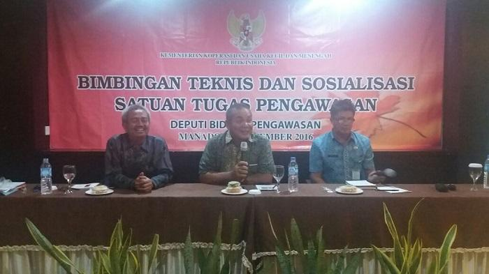Tuntaskan Kasus di Sulawesi Utara, Depkop UKM Bekali Satgas Cara Pengawasan Koperasi