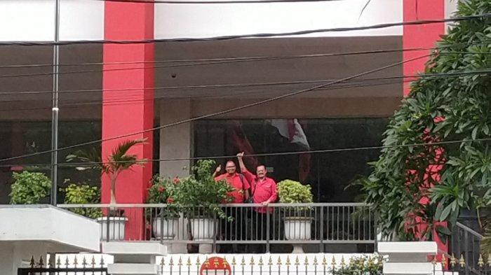 Bakal calon wali kota Solo dan wakil wali kota Solo, Achmad Purnomo dan Teguh Prakosa setiba di kantor DPP PDIP, Senin (10/2/2020).