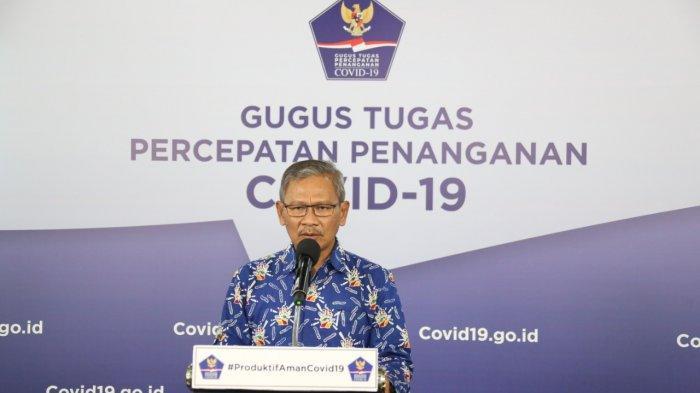 Juru Bicara Pemerintah untuk Covid-19 Achmad Yurianto dalam keterangan resmi di Media Center Gugus Tugas Percepatan Penanganan Covid-19, Graha Badan Nasional Penanggulangan Bencana (BNPB), Jakarta, Rabu (17/6/2020).