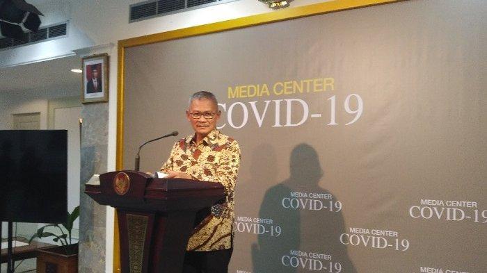Juru Bicara Pemerintah untuk Penanganan Wabah Virus Corona Achmad Yurianto di Kantor Presiden, Jakarta, Selasa (10/3/2020).