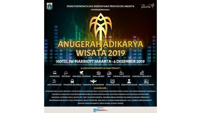 3 Hari Lagi Disparbud Jakarta akan Pilih 31 Pemenang Adikarya Wisata 2019