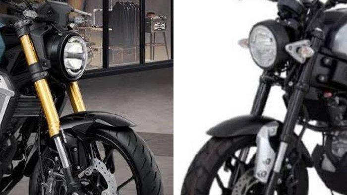 Adu Ganteng Yamaha Xsr155 Dan Honda Cb150r Exmotion Suka Yang Mana Tribunnews Com Mobile