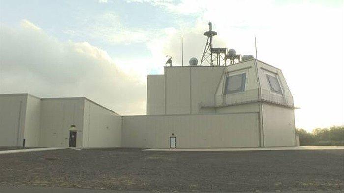 Sistem pertahanan peluru kendali balistik Aegis Ashore buatan Lockheed Martin yang dipasang di Perfektur Akita Jepang