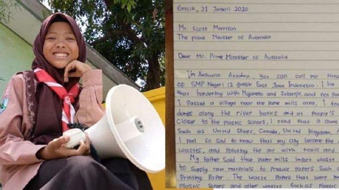 Siswi 12 Tahun dari Gresik, Tulis Surat ke PM Australia: Jangan Kirim Sampah Tak Bisa Didaur Ulang