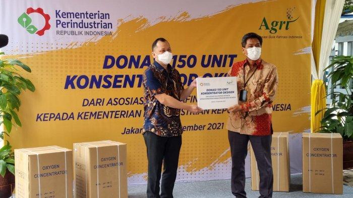 Bantu Penanganan Covid-19, Asosiasi Gula Rafinasi Donasikan 150 Unit Oksigen Konsentrator