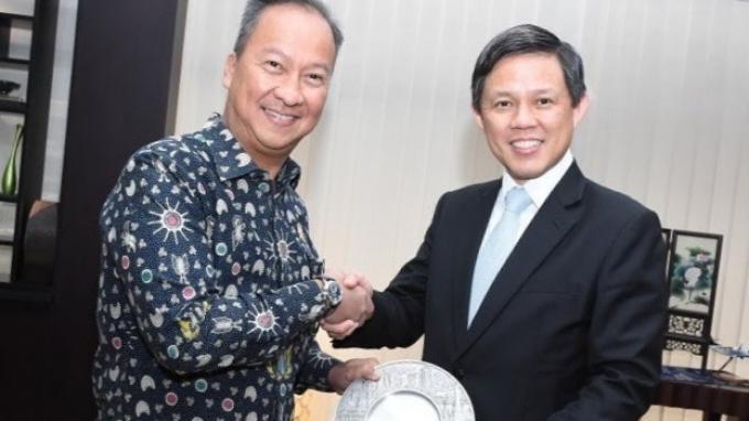 Bertemu Menperin Singapura, Agus Gumiwang Sepakati Penguatan Kerjasama Bilateral