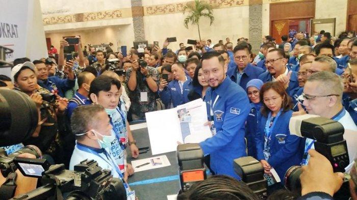 Agus Harimurti Yudhoyono (AHY) daftar sebagai calon ketua umum Partai Demokrat