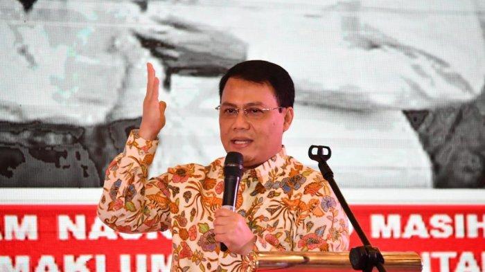 Wakil Ketua MPR RI Ahmad Basarah Hadir Sebagai Keynote Speaker dalam Acara yang Diinisiasi oleh Badan Pembinaan Ideologi Pancasila (BPIP), bertempat di Nusa Dua Bali, Senin 4 November 2019.