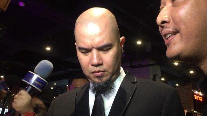 Ahmad Dhani ditemui usai jumpa pers konser Dewa 19 di kawasan Senayan, Jakarta Pusat, Rabu (15/1/2020).