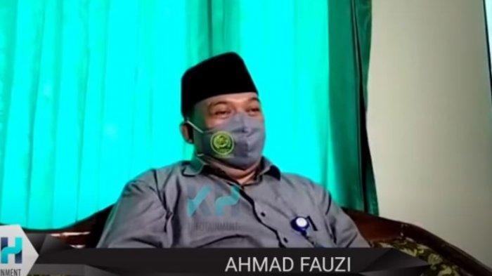 Ahmad Fauzi saat dijumpai oleh awak media