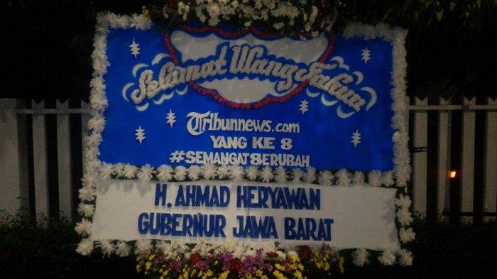 Gubernur Jawa Barat Ucapkan Selamat HUT ke-8 Tribunnews.com