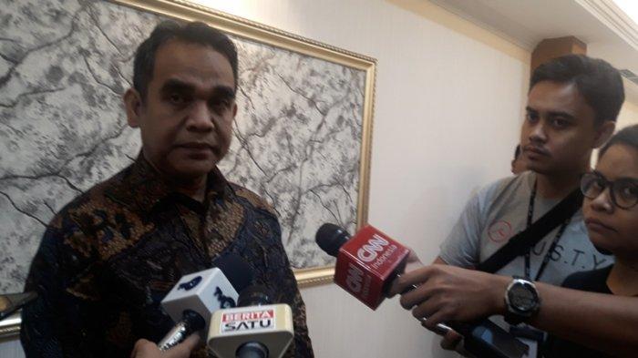 Sekretaris Jenderal Gerindra Ahmad Muzani di Kompleks Parlemen, Senayan, Jakarta, Kamis, (18/7/2019).