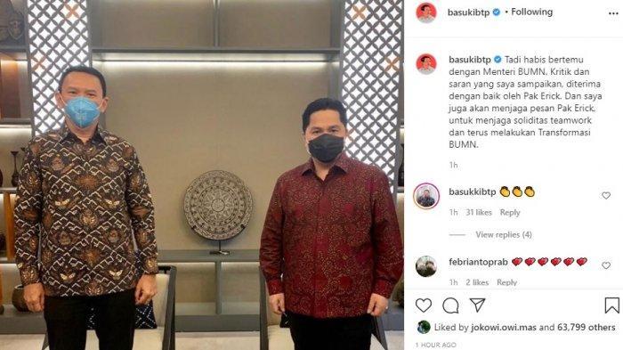 Ahok Kritik Keras Pertamina, Menteri BUMN Minta Ahok Fokus Benahi Masalah Internal
