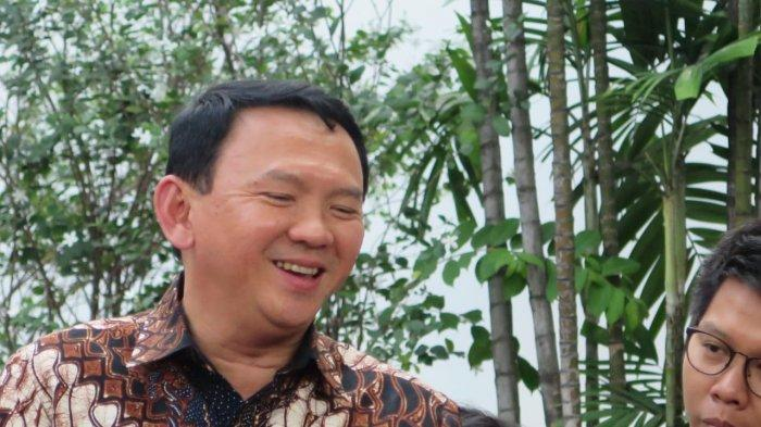 Komisaris Utama PT Pertamina (Persero) Basuki Tjahaja Purnama (Ahok) seusai menemui Presiden Joko Widodo (Jokowi) di Istana Merdeka, Jakarta, Senin (9/12/2019).