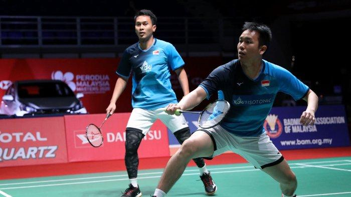 Simak prediksi hasil semifinal Malaysia Masters 2020 Ahsan/Hendra vs wakil Tiongkok, Li/Liu, Sabtu (11/1/2020). Siapakah yang paling unggul?