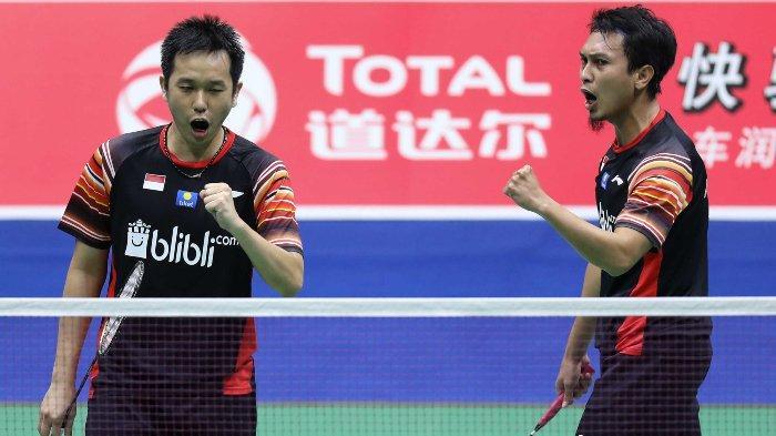 Rekap hasil lengkap Indonesia Open 2019, Fajar/Rian dan Ahsan/Hendra susul Marcus/Kevin. Total 14 wakil Indonesia lolos ke babak 16 besar.