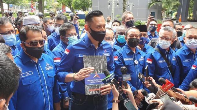Didampingi 34 Ketua DPD, AHY Tiba di Kemenkumham, Lapor Penyelenggaraan KLB Ilegal