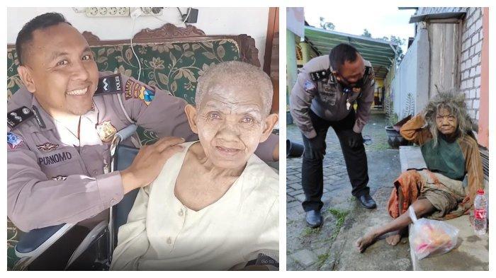 Viral Aksi Polisi Selamatkan Nasib Nenek Tunawisma, Digendong Karena Ngesot
