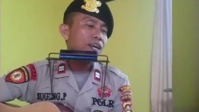 Kisah Aiptu Sugeng Dari Mengamen dan Menyemir Sepatu Jadi Polisi, Buat Lagu Saat HUT Bhayangkara