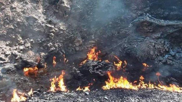 Api yang Muncul dari Dalam Kali di Sumba Tengah, Padam dengan Sendirinya