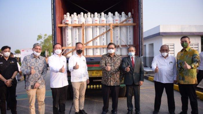 Airlangga Hartarto Lepas Pengiriman Oksigen untuk Bantu India Atasi Covid-19 Gelombang Kedua