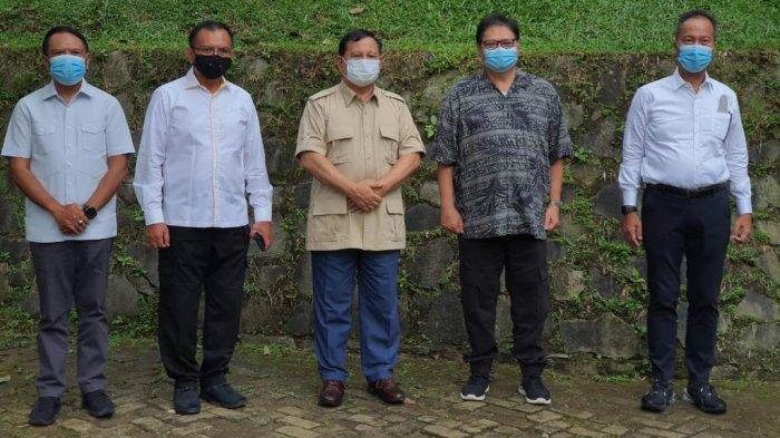Airlangga Hartarto dan Prabowo Subianto Serta Menpora Juga Bahas Indonesia Tuan Rumah Olimpiade 2032