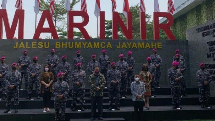 Airlangga Hartarto Kunjungi Korps Marinir TNI AL di Cilandak, Ini yang Disampaikan