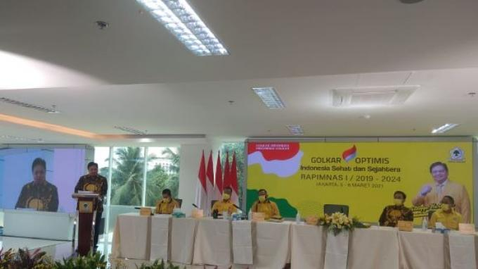 Airlangga Ungkap Hal yang Dibahas di Rampinas Golkar:Yellow Clinic, Strategi Pemenangan Pemilu 2024