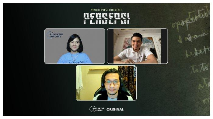 Ajeng Parameswari (President Digital Business Visinema Group) - Irwansyah (Producer & Cast) - Renardo Sasmara (Director).