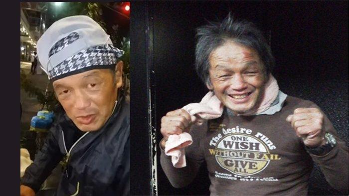 Akira Hareruya (50), mantan petinju kick-boxing Jepang yang menjadi nagurareya, bantalan tubuh untuk dipukuli.