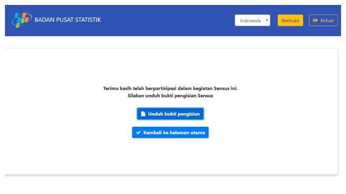Hari Terakhir Isi Sensus Penduduk Online 2020 Melalui Login www.sensus.bps.go.id, Simak Tutorialnya