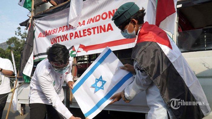 Aliansi Pemuda Indonesia Demo di Kedubes AS, Tuntut Biden Hentikan Dukungan Terhadap Israel