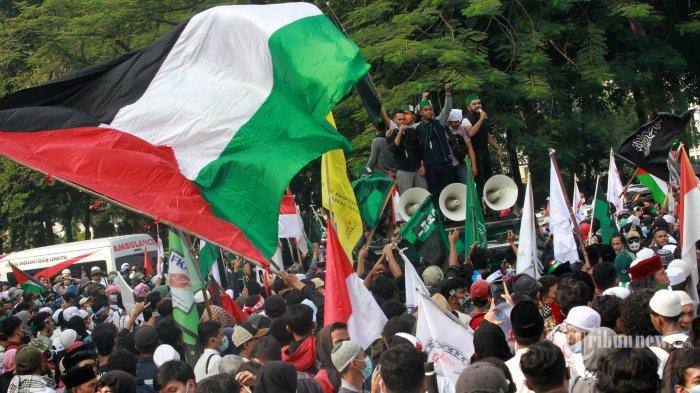 Demo Buruh untuk Palestina di Kedubes Amerika, 2.382 Personel Gabungan Diturunkan