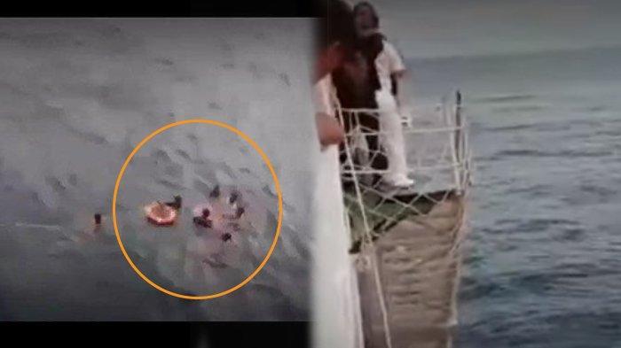 Video Aksi Heroik TNI Selamatkan Penumpang Kapal yang Jatuh di Perairan Laut Banda, Menegangkan!