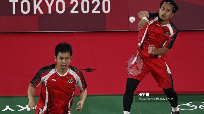 Bulutangkis Olimpiade Tokyo: Rawan Tergelincir, Ini Skenario Ahsan/Hendra Lolos ke Perempat Final