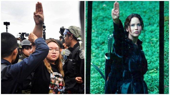Aksi Protes di Thailand: Demonstran Hormat Tiga Jari ala Hunger Games sebagai Bentuk Penolakan