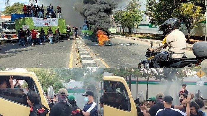 'Bosan Kuliah Online', Puluhan Mahasiswa di Makassar Terlibat Aksi Dorong dengan Polisi