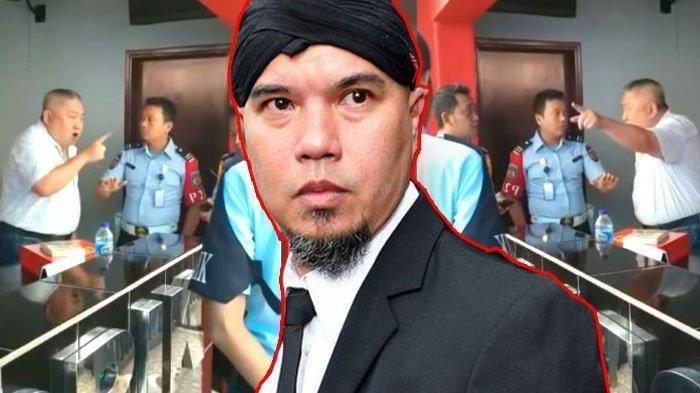Mengaku telah kantongi izin, aktivis Lieus Sungkharisma marah-marah pada petugas karena tak diizinkan temui Ahmad Dhani di Rutan Cipinang