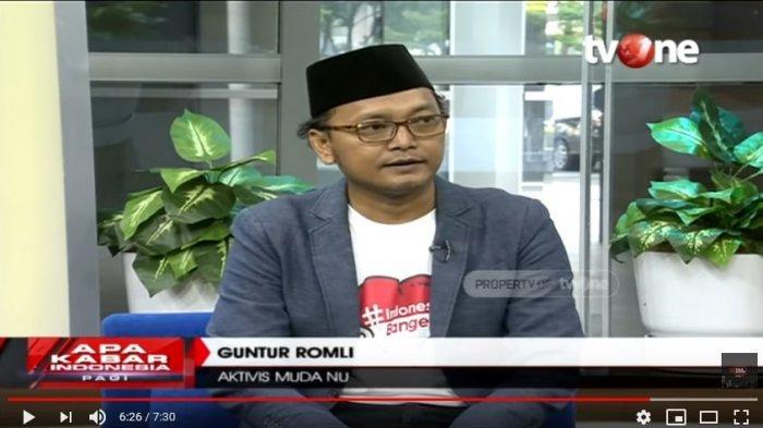 Aktivis Muda NU, Guntur Romli (Tangkapan Layar YouTube Talk Show tvOne)