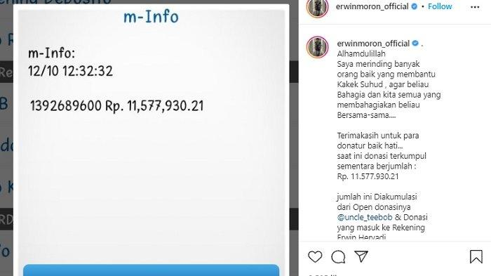 Aktivis Sosial Erwin Moron & Uncle Teebob open donasi untuk Kakek Suhud