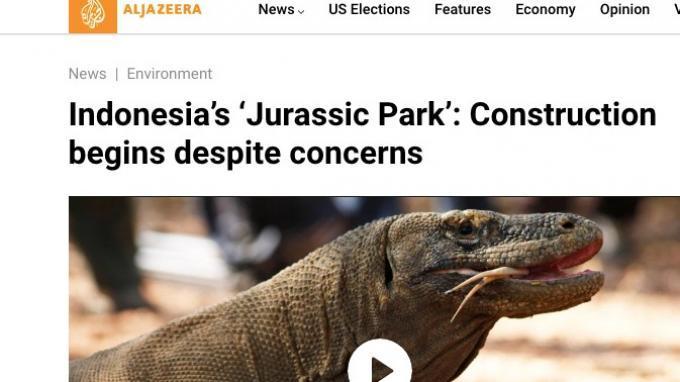 Media Asing Soroti Jurassic Park Indonesia, Konstruksi ...