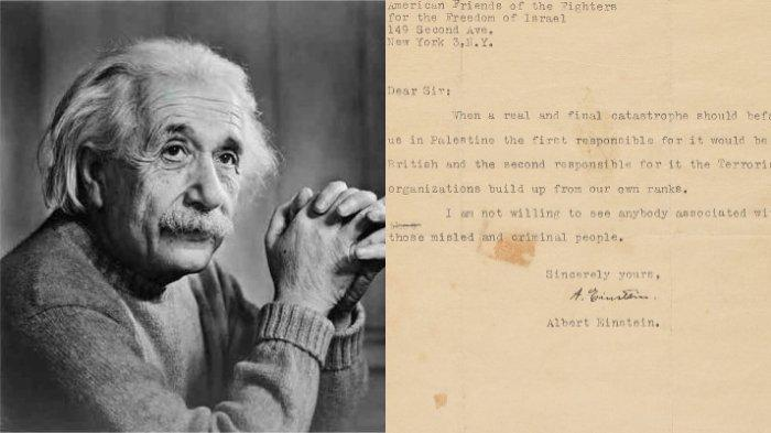 Prediksi Albert Einstein soal Keruntuhan Israel Tertulis Dalam Surat Singkat, Hanya 50 Kata