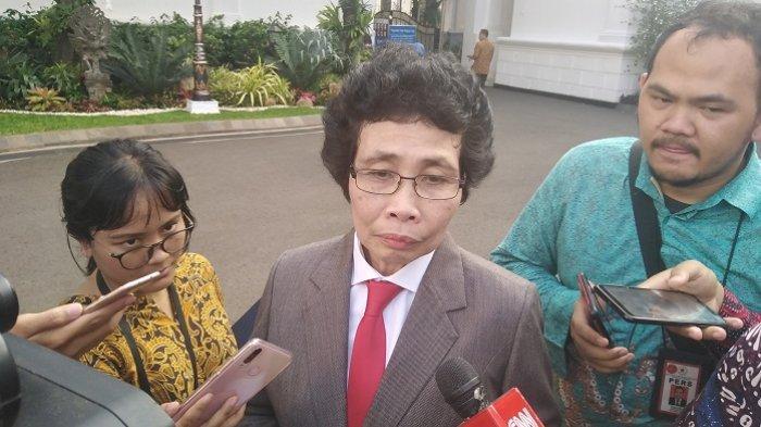 Anggota Dewan Pengawas Komisi Pemberantasan Korupsi (Dewas KPK) Albertina Ho di Kompleks Istana Kepresidenan, Jakarta Pusat, Jumat (20/12/2019).